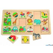 Puzzle výukové - Co kam patří, Věci, 18ks (Woody)