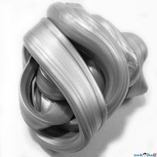 Inteligentní plastelína - metalická, Zářivá stříbrná