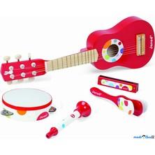 Hudba - Muzikální set s kytarou, 5 dílů (Janod)