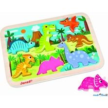Puzzle pro nejmenší - Vkládačka, Dinosauři (Janod)