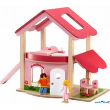 Domeček pro panenky - Růžový + nábytek (Wonderworld)