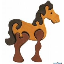 Puzzle z masivu - Malé, Kůň hnědý (Fauna)