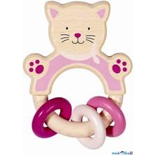 Chrastítko - Hračka do ruky Kočička (Heimess)