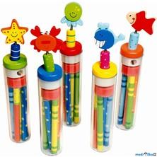 Psací potřeby - Tužky s ořezávátkem a gumou v tubě (Bino)