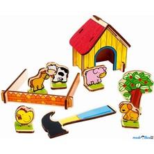 Farma - Stodola se zvířátky, 3D puzzle na desce (Legler)