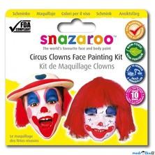 Snazaroo - Sada 3 barev na obličej, Klauni