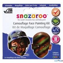Snazaroo - Sada 3 barev na obličej, Vojáci