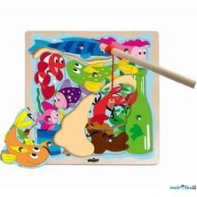 Magnetický rybolov - Puzzle na desce, Rybník (Woody)