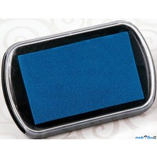 Razítkovací polštářek - Velký, barva modrá
