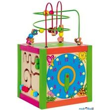Motorická kostka - Didaktická kostka barevná (Woody)
