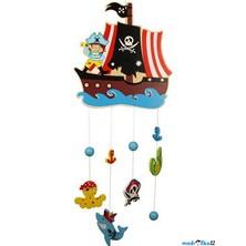 Kolotoč závěsný dřevěný - Pirátská loď (Bigjigs)