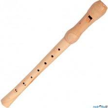 Hudba - Flétna dřevěná 32cm, přírodní (Bino)