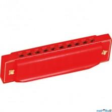 Hudba - Foukací harmonika, červená (Bino)