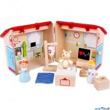 Domeček pro panenky - Zvěrolékař v kufříku (Bigjigs)