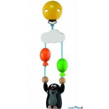 Hračka s klipem - Krtek s 2 balónky (Detoa)