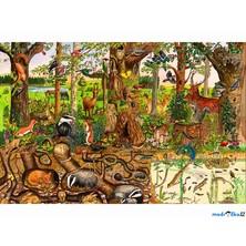 Puzzle dřevěné - Maxi, Život v lese, 48ks (Bigjigs)