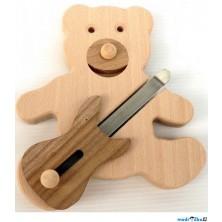 Hudba - Muzikální hračka, Medvěd s basovou kytarou (Makovský)
