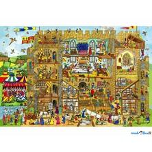 Puzzle dřevěné - Maxi, Život na hradě, 48ks (Bigjigs)