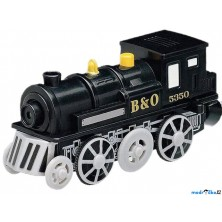 Vláčkodráha vláčky - Elektrická lokomotiva, černá (Maxim)