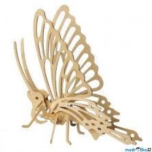 3D Puzzle přírodní - Motýl větší