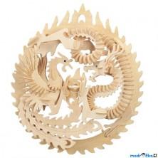 3D Puzzle přírodní - Fénix a drak asijský