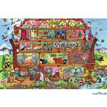 Puzzle dřevěné - Maxi, Noemova archa, 48ks (Bigjigs)