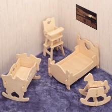3D Puzzle přírodní - Dětský pokoj