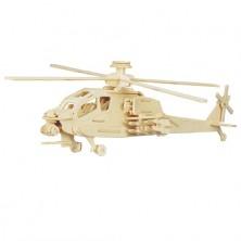 3D Puzzle přírodní - Helikoptéra Apache