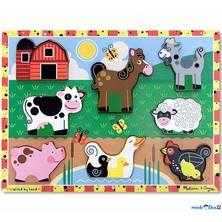 Puzzle pro nejmenší - Vkládačka, Farma (M&D)