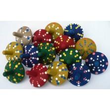 Drobné hračky - Káča dřevěná, různé barvy (Makovský)