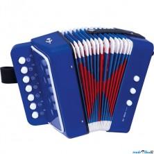 Hudba - Tahací harmonika modrá (Bino)
