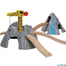 Vláčkodráha tunely - Hora s jeřábem a nadjezdy (Maxim)