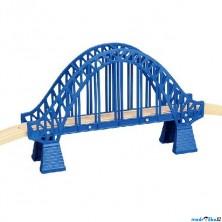 Vláčkodráha mosty - Most obloukový s nadjezdy, modrý (Maxim)