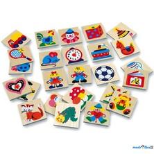 Obrázkové značky pro školky - Dřevěné 25 ks, SET 73514 (Bino)