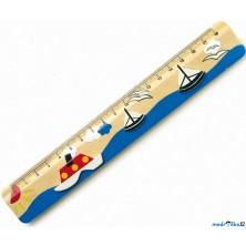 Pravítko - Dřevěné 18cm, Lodě (Legler)