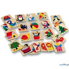 Obrázkové značky pro školky - Dřevěné 25 ks, SET 73512 (Bino)
