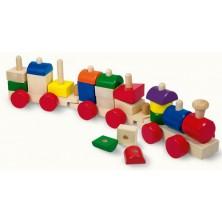 Vlak skládací - Vlak s nákladem barevný (Mertens)