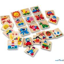 Obrázkové značky pro školky - Dřevěné 25 ks, SET 73511 (Bino)