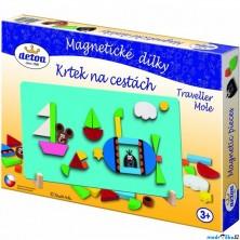 Puzzle magnetické - Krtek na cestách (Detoa)
