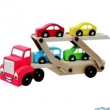 Auto - Tahač s návěsem pro přepravu aut (Woody)