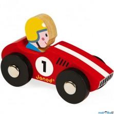 Auto - Retro dřevěné, Závodní červené (Janod)