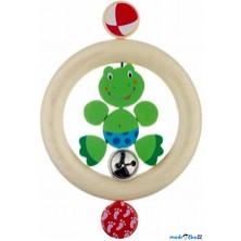 Chrastítko - Kroužek do ruky, Žabka s rolničkou (Heimess)