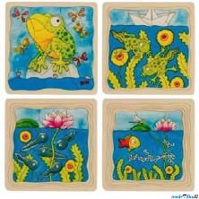Puzzle výukové - Vývoj žáby, 44ks (Goki)