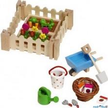 Nábytek pro panenky - Moje malá zahrádka, 32 dílů (Goki)