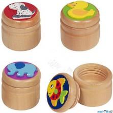Dřevěná krabička na první zoubky - Pro kluky, 1ks (Goki)