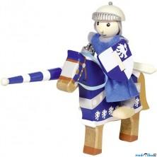 Postavička dřevěná – Rytíř modrý na koni (Goki)