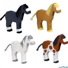 Zvířátka dřevěné – Koně, sada 4ks (Goki)