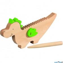 Hudba - Dráček Kvído, hudební hračka ze dřeva (Goki)