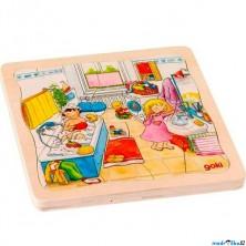 Puzzle vícevrstvé - Můj den, 4 vrstvy, 46ks (Goki)