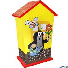 Pokladnička - Krtek, dřevěná